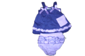BUTTERFLY GALLUS BABY DRESS.