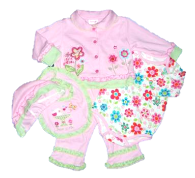 PINK LITTLE CUTIE 5 PIECE SET.