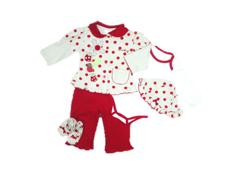 RED LOVEBUG 5 PIECE SET