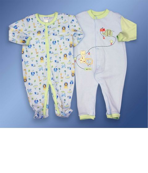 UNISEX ZOO SLEEP SUIT SET